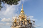 The white pagoda was repaired at khonkaen in Thailand — Stock Photo