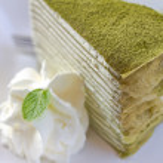 Matcha green tea cake cheesecake  — Stock Photo #64339345