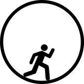 Endlose Rennen — Stockvektor