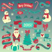 Vánoční prvky — Stock vektor