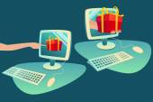 Concept of e-commerce purchase goods from internet — Foto Stock