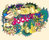 Medical doctor illustration art collage — Stock Photo