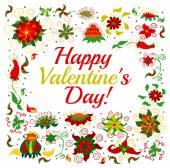 Happy Valentine's frame — Stock Vector