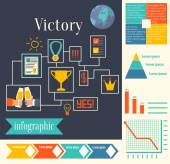Victory. Banner, diagram — Stock Vector