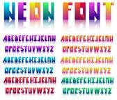 Spectral alphabet folded of ribbon colour. — Stock Vector
