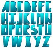 Alphabet in disco style — Stock Vector