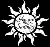 Sun with hand drawn typography poster. — Stock Vector