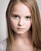 Beautiful Young Blond Teenage Girl In The Studio. — Stock Photo