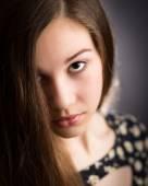 Beautiful Teen Girl Looking Up — Stock Photo