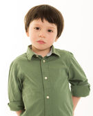 Boy looking serious — Stock Photo
