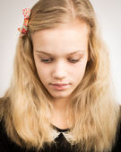 Beautiful Blond Teenage Girl Looking In The Camera — Stock Photo