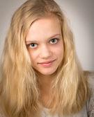 Beautiful Teenage Blond Girl With Long Hair — Stock Photo