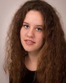 Classic Studio Portrait Of A Ginger Teenage Girl — Stock Photo