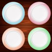 PLATES COLORFUL 4 — Stock Vector