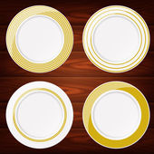 PLATES GOLD 4 — Stock Vector