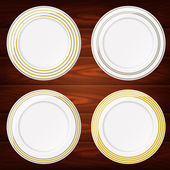 PLATES GOLD AND SILVER LINES 4 — Stock Vector