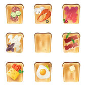 Toasts set — Stock Vector