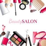 Glamorous make-up background — Stock Vector #60033127