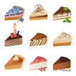 Cake icons — Stock Vector #60033827