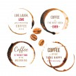 Coffee stains with type — Stock Vector #60034819