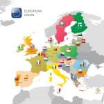 The European Union map — Stock Vector #60035767