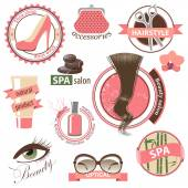Beauty and fashion emblems — Vector de stock