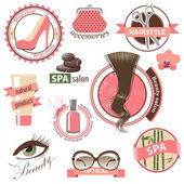 Beauty and fashion emblems — Stockvector