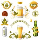 Beer emblems — Stock Vector