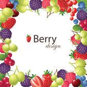 Berries frame — Stock Vector