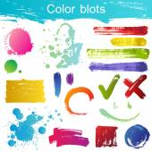 Color blots — Stock Vector