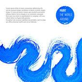 Abstract  blue  brush stroke — Stock Vector