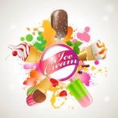 Ice cream mix — Stock Vector