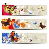 Farfalla banner — Vettoriale Stock