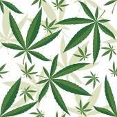 Cannabis seamless ornament — Stock Vector