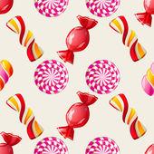 Lollipop seamless pattern — Stock Vector