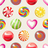 Lollipop seamless pattern — Stock Vector