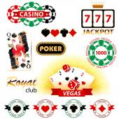 Casino signs and emblems — Stock Vector