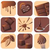 Choco set. — Stock Vector