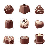 Chocolate candies — Stock Vector
