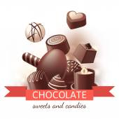 Chocolate sweets and candies — Vetorial Stock