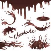 Chocolate splashes — Stock Vector