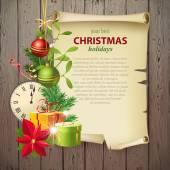 Vintage Christmas background — 图库矢量图片