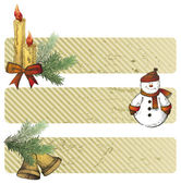 Christmas horizontal banners — Vecteur