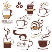 Coffee and cafe lofo templates — Stock Vector