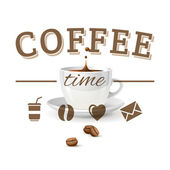 Hora do café — Vetorial Stock