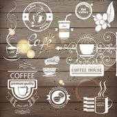 Coffee emblems — Stock Vector