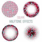 Colorful  halftone circles — Stock Vector