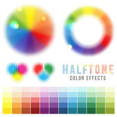 Color halftone effects — Stock Vector