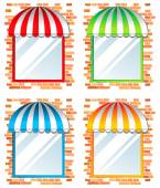 Colored windows — Stock Vector