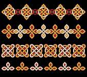 Colorful celtic ornaments — Stock Vector